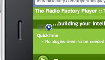 The Radio Factory player on iPhone